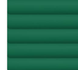 Grüne Jalousie für schräge Fenster