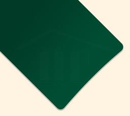 Moosgrüne Lamelle für Schrägraffstore