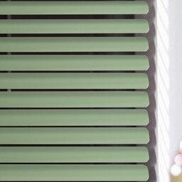Mintgrüne Dachfensterjalousie